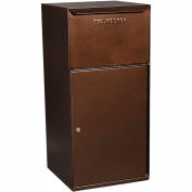 dVault Collection Vault Mailbox and Parcel Drop DVCS0023 - Free Standing, Front Access - Copper Vein