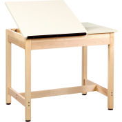 "Drafting Table 36""L x 24""W x 30""H - 2 Piece Top"