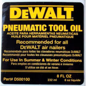 DeWalt Service Part, D500100, 8 Oz. Bottle Pneumatic Oil - Pkg Qty 12