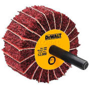 "DeWalt Finishing Flap Wheel, DAFE7F0610, 2"" X 1"" X 1/4"", 60 Grit, 12000 RPM, 10/PK - Pkg Qty 10"
