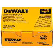 "DeWalt 20° Angled Finish Nails, DCA16200, 16 Gauge, 2""L, 2500/Box - Pkg Qty 4"