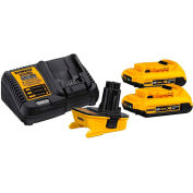 DEWALT DCA2203C 18-Volt to 20-Volt MAX Lithium-ion Battery Adapter Kit for 18-Volt Tools 2 Pack