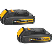 DeWALT® Lithium Ion Compact Battery Pack (1.5 Ah) - 2 Pack, DCB203-2, 20VMAX*