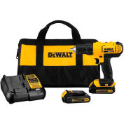 "DeWALT DCD771C2 20V MAX Li-Ion Cordless 1/2"" Drill/Driver Kit (2) Bat 1.3Ah Charger & Contractor Bag"