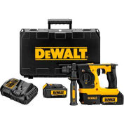 "DeWALT DCH273P2 20V Max XR Brushless 1"" L-Shape SDS Plus 3 Mode Rotary Hammer Kit"