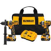Dewalt 20V MAX Cordless 2-Tool Kit Including Hammer Drill/Driver with FLEXVOLT Advantage™