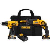 DeWALT® 12V MAX* Drill/Driver / Recip Combo Kit, DCK212S2, 2-Tool Kit
