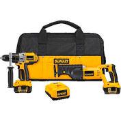 DeWALT® 18V Cordless XRP™ Li-lon Hammerdrill / Recip Combo Kit, DCK271L, 2-Tool Kit
