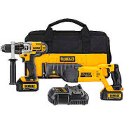 DeWALT® 20V MAX* Lithium Ion Hammerdrill / Recip Saw Combo Kit (3.0 Ah), DCK292L2, 2-Tool Kit