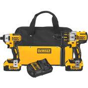 DeWALT® DCK296M2 20V MAX XR Li-Ion Brushless Premium Hammer Drill & Impact Driver Combo Kit