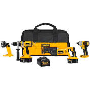 DeWalt® 18V Cordless XRP™ Combo Kit, DCK445X, 4-Tool Kit
