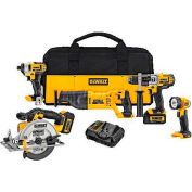 DeWALT® 20V MAX* Lithium Ion Combo Kit (3.0Ah), DCK590L2, 5-Tool Kit