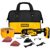 DeWALT® DCS356D1 20V MAX XR Li-Ion Oscillating Multi-Tool Kit (2.0AH)