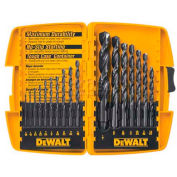 "DeWALT® Drill Bit Set, DW1167, Black Oxide, 17 Pieces, 1/16"" - 1/2"" Split Point Bits"