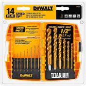DeWALT® Titanium Speed Tip Drill Bit Set, DW1341, 14 Piece Set