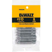 """DeWALT® #2 Phillips Bit, DW2022B6, 2"""" Bit Length, 6/PK - Pkg Qty 25"""