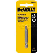 "DeWALT® #3 Square Recess Power Bit, DW2213, 2"" Bit Length, 1/PK - Pkg Qty 5"