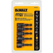 "DeWALT® Magnetic Impact Ready Nut Driver Set, DW2235IR, 1/4"" - 1/2"", 5 Pieces"