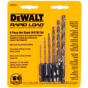 "DeWALT® Rapid Load® Quick Change Bit Set, DW2551, 1/16""-1/4"" Hex Shank, 6 Pieces"