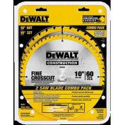 "DeWALT® Series 20 Construction 10"" Combo Pack, DW3106P5, 5/8"" Arbor, 10"" Diameter, 60/32 TPI"