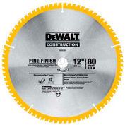 "DeWALT® Series 20 Circular Saw Blade, DW3128, 1"" Arbor, 12"" Diameter, 80 TPI"