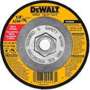 "DeWalt Metal Grinding Wheel, DW4523, Type 27, 4-1/2"" Diameter, 13300 RPM, 10/PK - Pkg Qty 10"