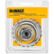 "DeWalt DW4916 HP Wire Cup Brush 4"" x 5/8-11"" .020"" Carbon Knotted Wire  Carbon Steel - Pkg Qty 5"