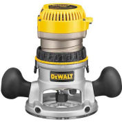 DeWALT® 2-1/4 HP EVS Fixed Base Router with Soft Start, DW618, 12.0 Amps, 8000-24000 RPM