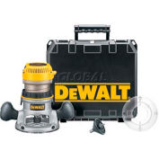 DeWALT® 2-1/4 HP EVS Fixed Base Router Kit with Soft Start, DW618K, 12.0 Amps, 8000-24000 RPM