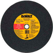 "DeWalt Fabrication Cutting Wheel, DW8002, 14"" Diameter, 7/64"" Thick, 4300 RPM, 10/PK - Pkg Qty 10"