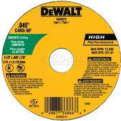 "DeWalt Concrete & Masonry Cutting Wheel, DW8072, 4-1/2"" Diameter, .045"" Thick, 13300 RPM, 25/PK - Pkg Qty 25"
