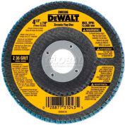"""DeWalt DW8306 Flap Disc Type 29 4-1/2"""" x 7/8"""" 36 Grit Zirconia - Pkg Qty 10"""