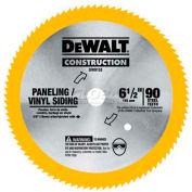 "DeWALT® Steel Saw Blade (Vinyl/Paneling), DW9153, 5/8"" Arbor, 6-1/2"" Diameter, 90 TPI - Pkg Qty 5"
