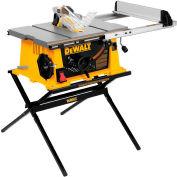 """DeWALT® DWE7490X 10"""" Job Site Table Saw w/ Scissor Stand"""