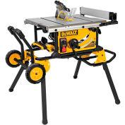 "DeWALT® DWE7499GD 10"" Jobsite Table Saw 32-1/2"" Rip Capacity w/ Rolling Stand, Guard Detect"