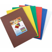 "Winco CBST-1218 Cutting Board Set, 12""L, 18""W, 1/2""H, Assorted Colors"
