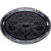 "Winco CMT-1318 Oval Serving Tray, 18-3/4""L, Chrome, Gadroon Edge W/ Engraving - Pkg Qty 12"