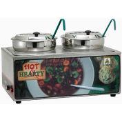 Winco ESM-27HNB Soup Merchandiser W/ Two 7 Qt. Insets, 120 Volt