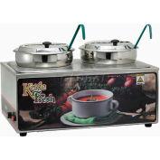 Winco ESM-27KNB,  Soup Merchandiser W/ Two 7 Qt. Insets, 120 Volt