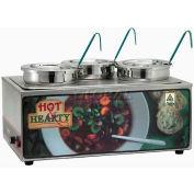 Winco ESM-34HNB Soup Merchandiser W/ Three 4 Qt. Insets, 120 Volts