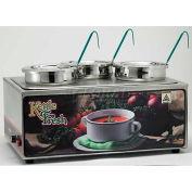 Winco ESM-34KNB Soup Merchandiser W/ Three 4 Qt. Insets, 120 Volt