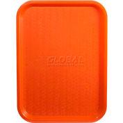 """Winco FFT-1014O Fast Food Tray, Orange, 10""""x 14"""" - Pkg Qty 12"""