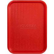 """Winco FFT-1418R Fast Food Tray, Red, 14""""x 18"""" - Pkg Qty 12"""