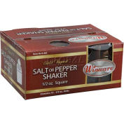 Winco G-301 Square Shakers W/ Brass Tone Tops - Pkg Qty 15
