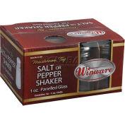 Winco G-305 Paneled Shakers W/ Mushroom Tops - Pkg Qty 3