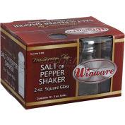 Winco G-309 Square Shakers W/ Mushroom Tops - Pkg Qty 3