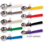 Winco ICOP-8 Disher W/ Single Piece Handle, Size #8, Gray - Pkg Qty 10