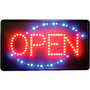 "Winco LED-6 LED ""OPEN"" Sign, 3 Patterns"