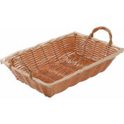 Winco PWBN-12B Rectangular Woven Basket with Handles - Pkg Qty 12