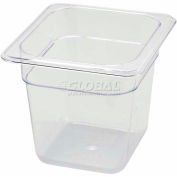 """Winco SP7606 1/6-Size Food Pan, 6""""H, -40°F to 210°F, Polycarbonate - Pkg Qty 6"""